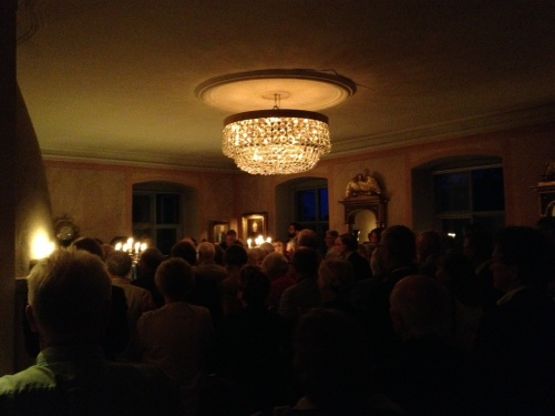 View from the audience at Saxå Herrgård. Standing ovation in the end of the concert!