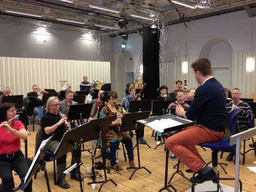 Rehearsal with the Royal Swedish Navy Band and conductor Per-Otto Johansson!