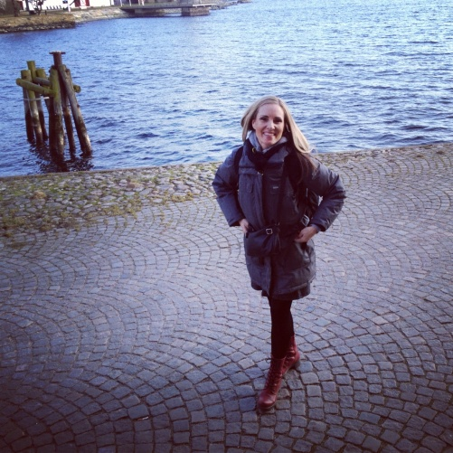 Hannah Holgersson by the Karlskrona waterside!