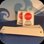 2 st BoatSecure Stöldskyddsmärkning - Vit / Vit