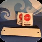 2 st BoatSecure Stöldskyddsmärkning - Svart / Vit