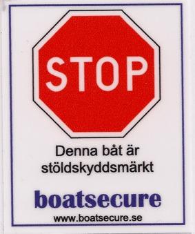 BoatSecure varningsdekal -