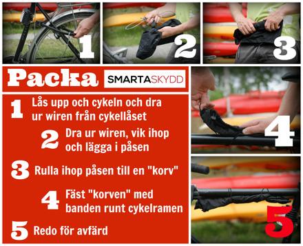packa ihop hjälmlåset för cykel