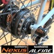C3N - B-Låsbult för bakhjul - C3N - B3 för bakhjul shimano växel. Nexus eller Alfine.