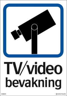 Skylt TV / Video bevakning