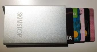 Plånbok aluminium mot skimming - Silver plånbok mot skimming