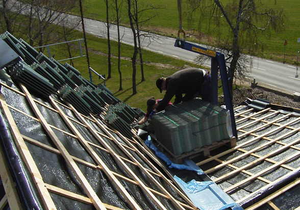Takläggare KB Bygg i Halmstad, Halland utför takbyten & takarbeten
