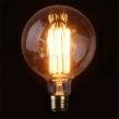 Koltrådslampor Edison - Globe 125 40W (125mm diameter)