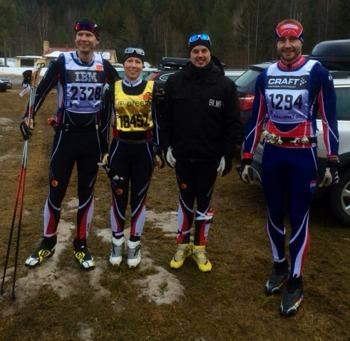 Taggade innan start… Undertecknad, Gabby, Niklas och Daniel.