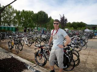 Incheckning dagen innan - kass plats för cykeln