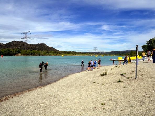 Sjön - borde ha tagit med mig en våtdräkt och testat simbanan dagen innan