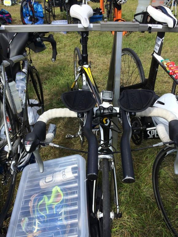 Cykeln på plats
