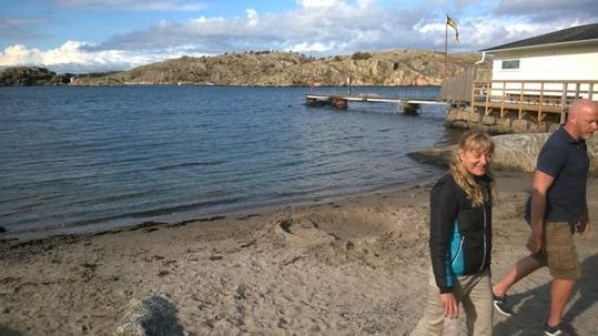 Stranden vid starten - Inte så bred för att 600 stycken ska i samtidigt :-) Foto: Privat