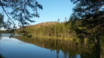 Tärnättvattnet och Slottsberget