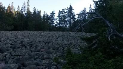 Klapperstensfält i Skuleskogen