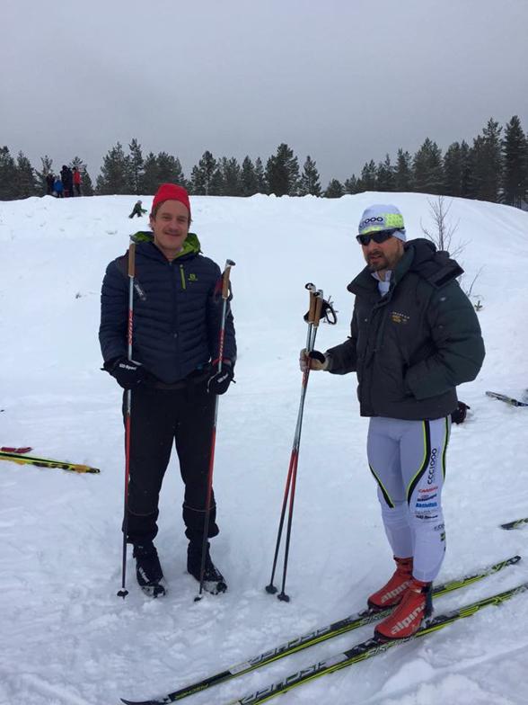 Jag och Magnus Nygren (CCC1000) innan start.