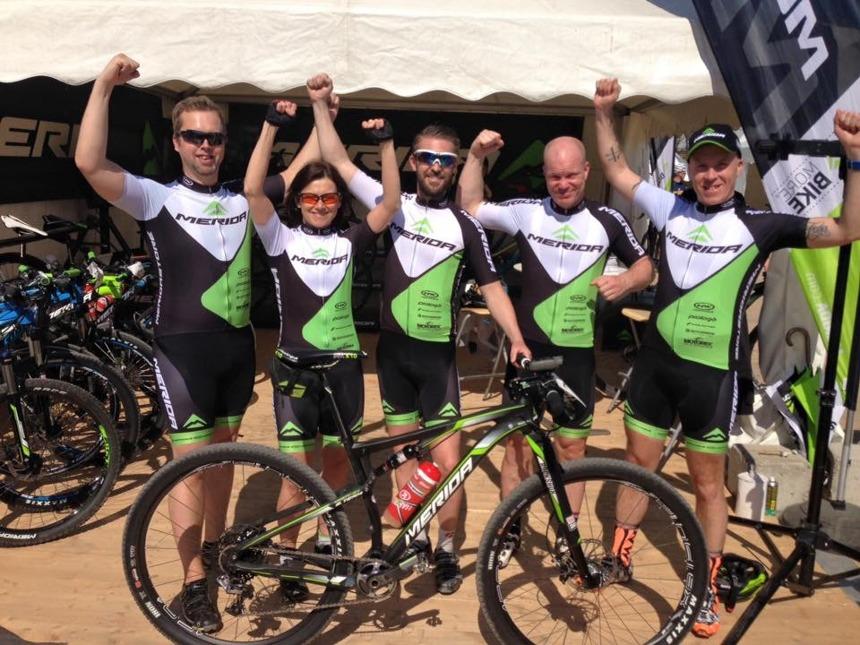 —Delar av Team Merida Cykelvasan på plats för att tävla