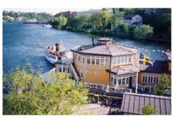 ABK:s klubbhus i samma stil som sjöpaveljongen