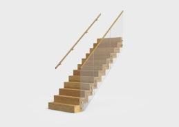 Solid är en trappmodell som är helt inklädd i trä; plansteg, sättsteg, vangstycke samt undersida. Materialet är massivt trä och tillverkas i olika ädelträslag som kan ytbehandlas i flera olika kulörer. Bärande delar i konstruktion är tillverkade i stål som säkerställer trappans bärighet. Stålet kläs in helt med massivt trä och infästningspunkter blir därmed helt dolda. Trappan kan tillverkas i formerna Rak, L-formad och som vilplanstrappa. Inklädnaden på sidan kan utföras på två olika sätt, en variant är gersågad medan den andra varianten utgörs av en hel träsida. Räcket tillverkas i stål alternativt glas.
