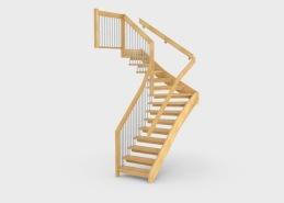 Grace är en trappmodell där man använder överliggare i kombination med stålstänger i räcket som bärande delar i trappans konstruktion. Trappans trädetaljer tillverkas i massivt trä och kan fås i många olika träslag och kulörer. Räckesståndarna är tillverkade i rostfritt material alternativt målade i valfri RAL-kulör. Trappan går att tillverka i formerna rak, L-formad och U-formad.
