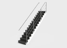 Trappa Zäta 2 har tappade och limmade steg som där sättstegen har en svagt negativ vinkel vilket ger ett unikt utseende. Med den underliggande vangen som kan fås med indrag kan trappan enkelt integreras i husets arkitektur. Trappan Zäta är designad för att vara diskret samtidigt som stegens profil ger karaktär. De Z-formade stegen i massivt trä är monterade på en underliggande vang, som kan fås med indrag på upp till 120 mm vilket ger att man kan bygga tex en vägg i innersväng under trappan som gör att trappan smälter in i byggnadens arkitektur. Räcket till trappan tillverkas vanligtvis i glas alternativt rostfritt material.