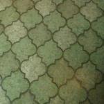 Asbest i lim under matta