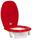 Röd toalettförhöjning