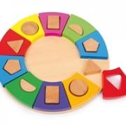 Pussel, Färg-formcirkel av trä