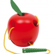 Trä äpple med mask