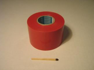 Röd 5 cm bred kontrast tejp -