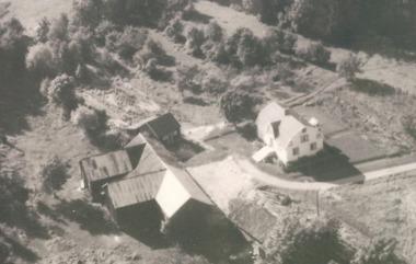 Flygfoto av Djäknegården (1958)