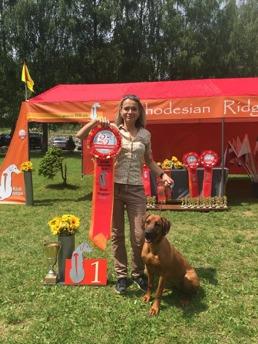 Pia (Maji) best puppy Ridgebackclub  Slovenia