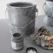 Extra patina med nyansen Aged Zinc