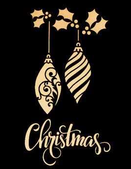 Christmas Ornaments - Schablon 2