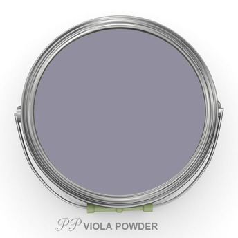 PP Viola Powder - Vintage Handmålad tag 3x6 cm