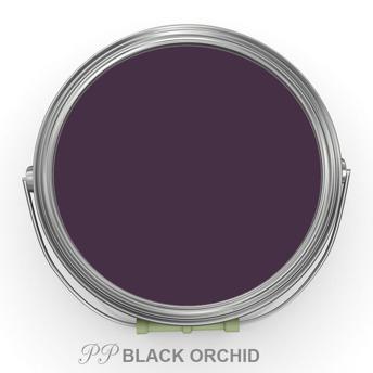 PP Black Orchid - Vintage Handmålad tag 3x6 cm