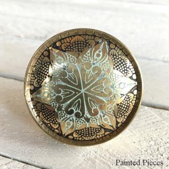 Brass Mandala Star - Knopp