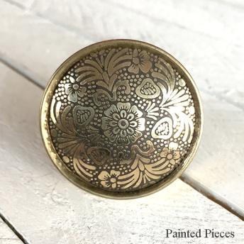 Brass Mandala Flower - Knopp (oxiderad / nött)