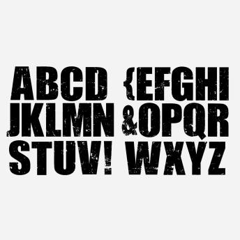 Alpha Block - dubbel - IOD Stämpel 2 st