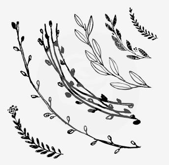 Build a Wreath Stor - IOD Stämpel