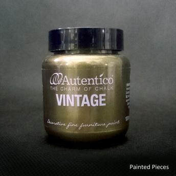 Autentico Standard Old Gold - Handmålad tag ca 5x8 cm