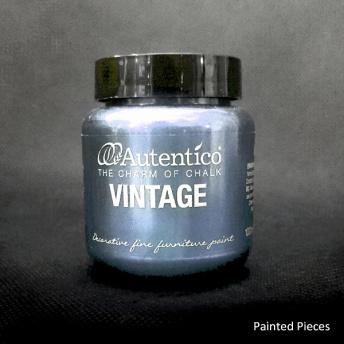 Autentico Standard Silver Pearl - Handmålad tag ca 5x8 cm