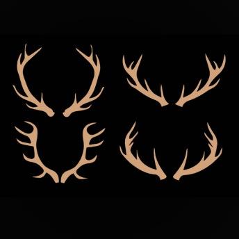 Antlers - Schablon 4 delar
