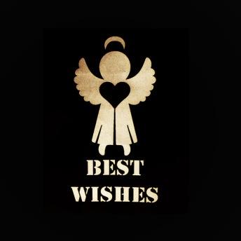 Best Wishes - Schablon ängel