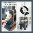 Artissimo - Milk Paint handmålad tag 3x6 cm