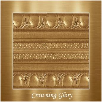 Crowning glory - PP Metallic handmålad tag ca 5x8 cm