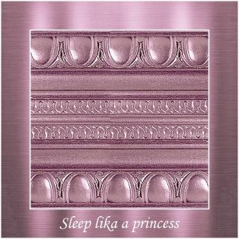 Sleep like a princess - PP Metallic handmålad tag ca 5x8 cm