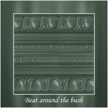 Beat around the bush - PP Metallic handmålad tag 5x8 cm