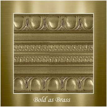 Bold as brass - PP Metallic handmålad tag ca 5x8 cm