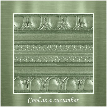 Cool as a cucumber - PP Metallic handmålad tag ca 5x8 cm